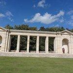 War memorial opposite cemetary