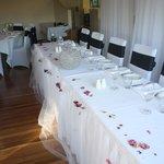 Pasfields Restaurant Small Wedding Set Up