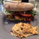 Chicken & Avocado sandwich with slaw made in-house!