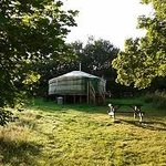 A yurt at Strawberry Skys
