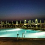 Pool at Hotel Presidente in evening