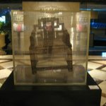 Chair was made from coins in the Langham hotel