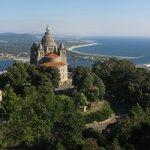 Basilica de Sta Lucia y desembocadura del rio Lima