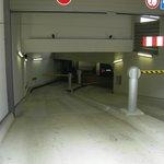 Rampa di accesso al parcheggio interrato