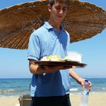 """""""Beachboy"""" serving our lunch"""