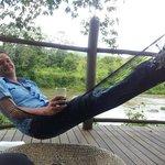 Relaxing by the beautiful Bua river