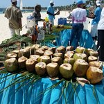 Coconut feast in the beach