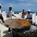 Great paella in the beach