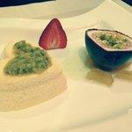 Delectable dessert at the Japanese O'Shin Restaurant