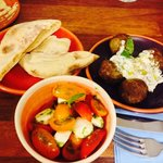 A few of the mezze dishes we shared