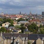 Udsigten fra hotellet udover København