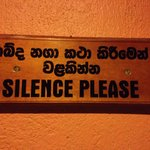 silence please signs