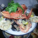 hot seafood platter with additional lobster