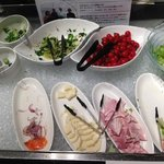 Breakfast salad bar / cold cuts selection