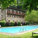 Pool in enclosed garden