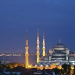 Blue Mosque from Golden Horn Sultanahmet Hotel