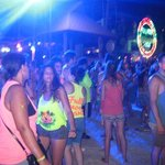 party goers next to the lumo party