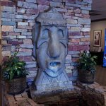 Tiki fountain in the hotel lobby