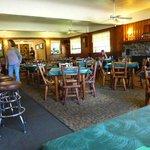 Roomy dining room/bar