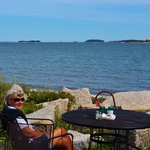 Take advantage of an ocean side table