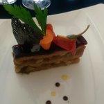 Mille-Feuille de foie gras au pain d'épice