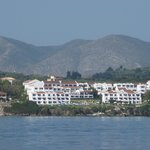 The hotel from the sea on board an island cruise