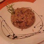 Trisotto (riso, orzo e farro) con taleggio e radicchio