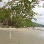 White sand beach where the hotel is located