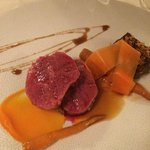 Sirloin of beef with carrot