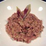 Radicchio and sausage risotto