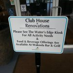 Clubhouse Closed