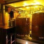 Their brewery tanks