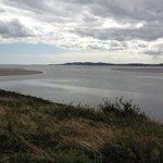 Baie de Dublin en bordure de l'irishtown park à marée basse