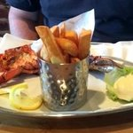 Char grilled lobster and chips :-)