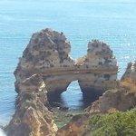 Praia do Camilo - twin towers rocks