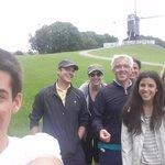 un selfie con los compañeros de excursion