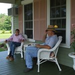 Dick and Lou enjoying The Rosewood Country Life