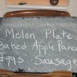 Slate menu board Tim and Andi gave us.
