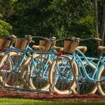 Enjoy a ride on one of our complimentary bicycles