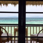 View from inside the bungalow