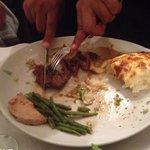 Steak Entrecôte and potatoes dauphinoise