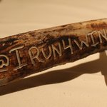 Hand engraved bone from the ribeye