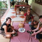 Making our Yellow Curry paste
