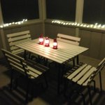 we LOVED the screened in porch. We brought the lighting