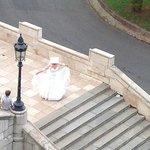 Una novia recien casada vista des de Bastion pescadores