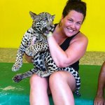 playing with he baby Jaguars