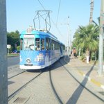 tram to the beach and museum