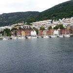 une vue idéale sur Bryggen de la chambre