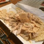 Gross canned chicken on the nachos