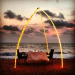 Dinner on the beach is an absolute must-do romantic experience